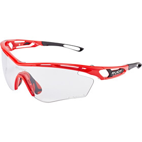 Rudy Project Tralyx Occhiali, fire red gloss - impactx photochromic 2 black